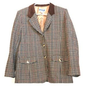 Pendleton wool herringbone blazer